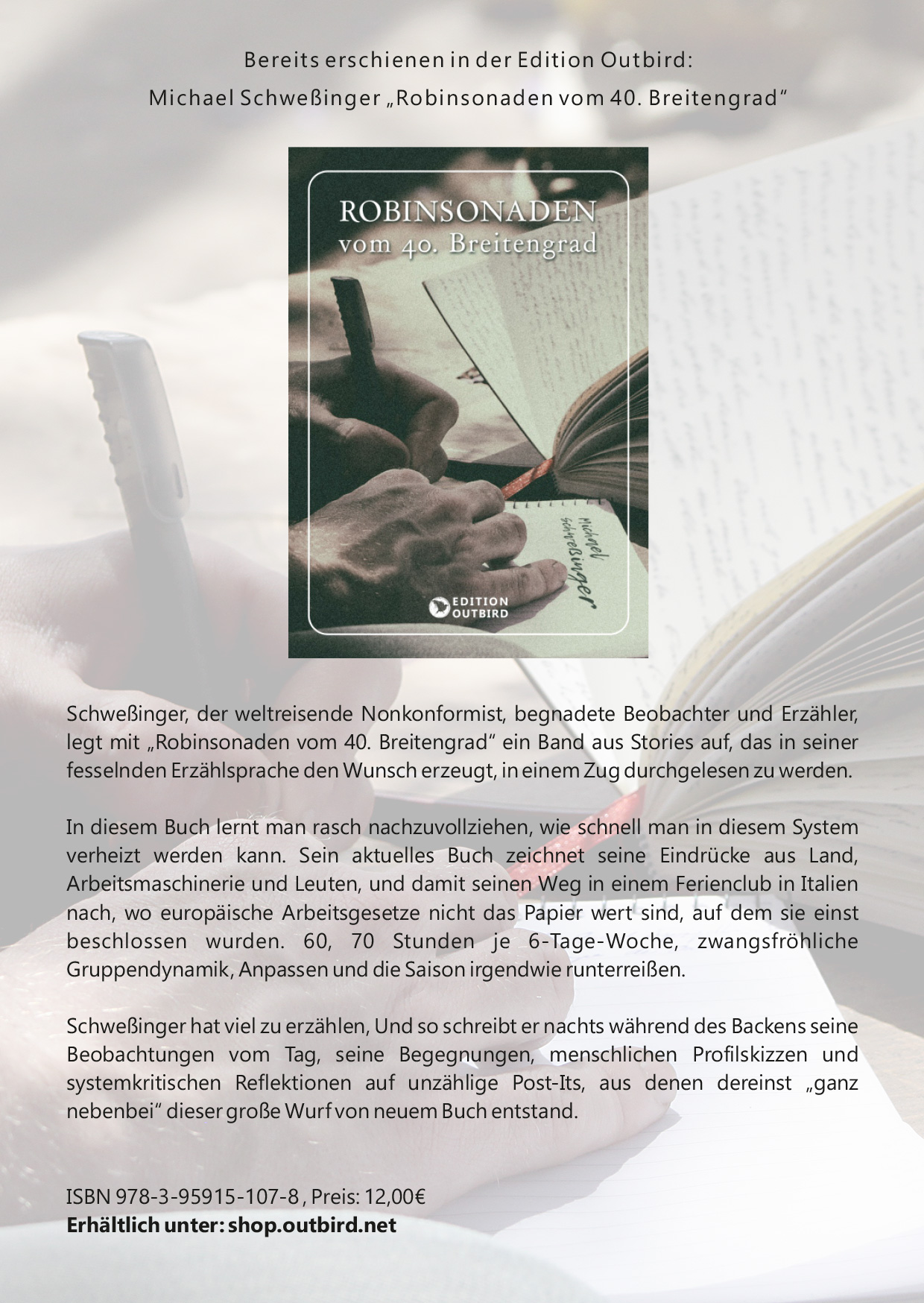 Michael Schweßinger - Robinsonaden vom 40. Breitengrad