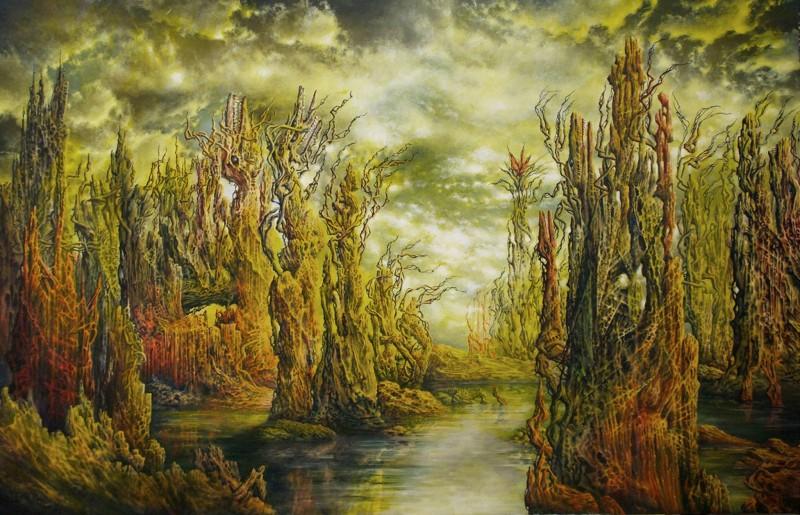 GROSSES HEULEN / big howling acryl auf hartfaser / acrylics on paneel 160 x 104 cm