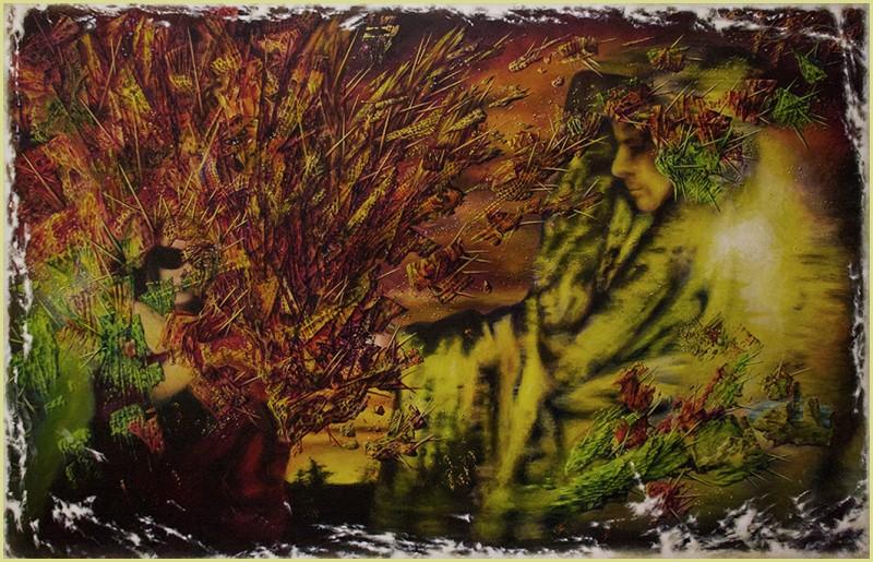LES ENFANTS DE LA PROMESSE (children of promise / kinder des versprechens) - acryl auf hartfaser / acrylics on paneel - 160 x 104 cm